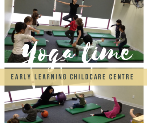 yoga at early learning childcare centre